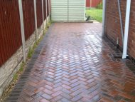Newly cleaned pathway, Sheffield
