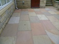 Yorkshire stone after Mossaway cleaning