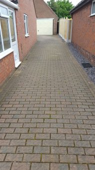 Driveway cleaned in Sheffield, March 2013 - before shot!